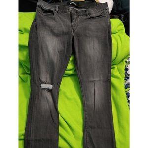 Express distressed jean legging